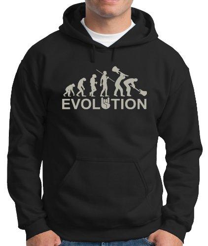 Evolution Heavy Metal Rock-Felpa con cappuccio varie taglie. Color Black/Silver M