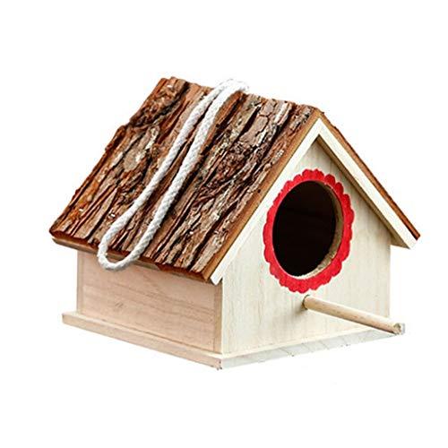 Antike Leinen Holz (LF stores Käfige Kreative Wand aus Holz Outdoor Nest Vogelhaus Vogelkäfig Nest Heimtierbedarf vogelvoliere)