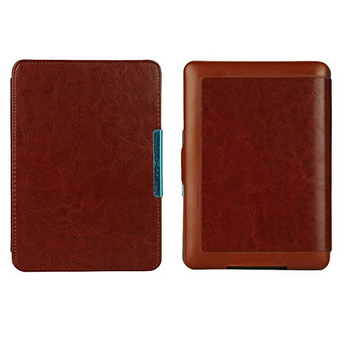 Beautyrain Schlankes PU-Leder Smart E-Buch-Kasten-Abdeckung Hand für Kindle Paperwhite 1/2/3 Kaffee (Kindle-buch-kasten-abdeckung)