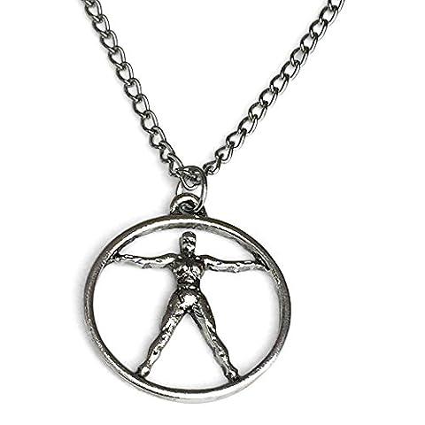 W World Silver Tone Adam Pendant Necklace