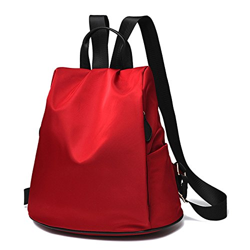 mujer-cremallera-tamano-carta-bolsos-mochila-carteras-de-mano-rojo