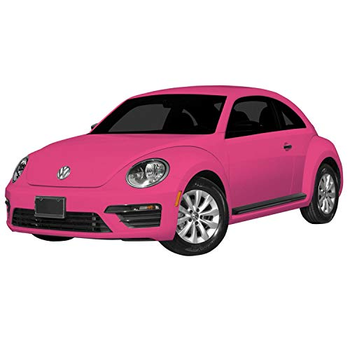 mondo motors - vw new beetle pink edition -  modello in scala 1:24 - fino a 20 km/h di velocità - auto giocattolo per bambini - 63579