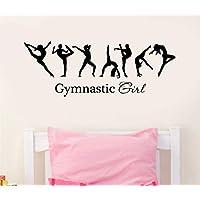 Wall Sticker,Ballerina Gymnastics Girl Sign Ballet Dancer Wall Decal Vinyl Sticker Home Decor for Bedroom Removable 57x21cm