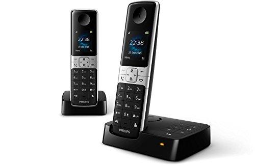 Philips D6352B/38 schnurloses Telefon mit Anrufbeantworter (4,6 cm (1,8 Zoll) Display, HQ Sound, Privatsphären-Modi) schwarz