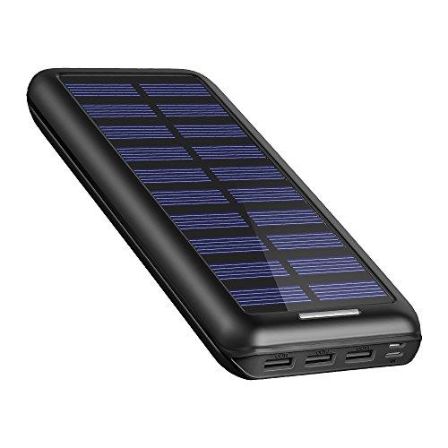 Caricabatterie portatile akeem 22000mah caricabatterie ad energia solare,power bank batteria esterna 3 porte usb per iphone, ipad, samsung, huawei, nexus, htc e altro smartphone, tablets