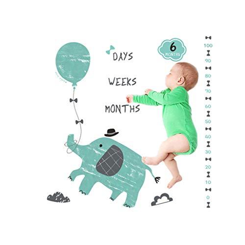 Youliy Weiche Babydecken, Baby-Requisiten, Milestone-Decke mit Karte zum Monatsalter.