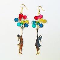 Orecchini bimba con palloncini - Gioielli Street art - Accessori moda - Novità orecchini - Bigiotteria bambina palloncini - Regalo per lei