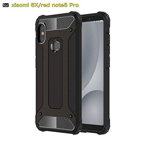 xinyunew Funda Xiaomi Redmi Note 5 Pro, 360 Grados Protección +Vidrio Templado Protector Pantalla Silicona Caso Cover Case Carcasas TPU + plastico Anti Arañazos de Protectora - Negro