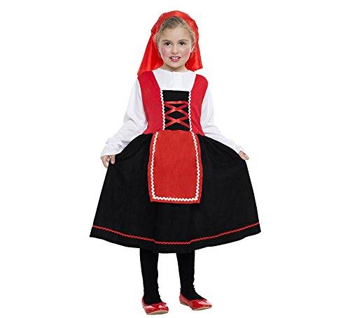 Imagen de disfraz de pastorcita con falda negra para niña