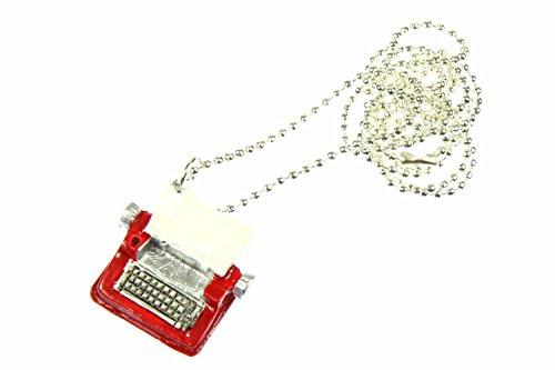 schine Kette Halskette 80cm Schriftsteller Autor ROT ()
