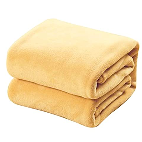 Fleece Blanket - SODIAL(R)Super Soft Warm Rug Luxury plush Fleece Throw Blanket 200 x 230 cm (78