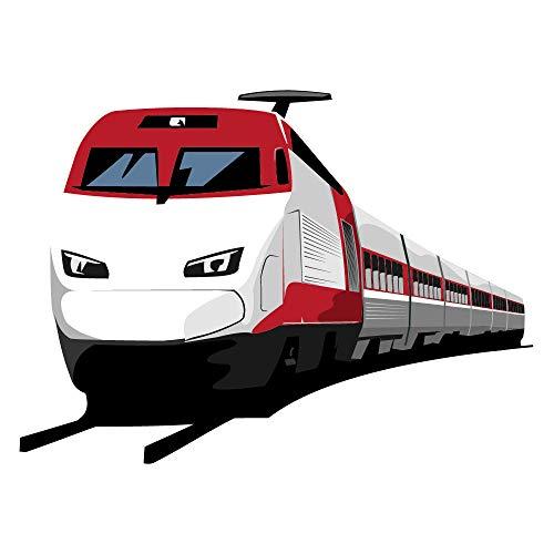 azutura Moderner Zug Wandtattoo Transport Wand Sticker Jungen Schlafzimmer Haus Dekor Erhältlich in 8 Größen Groß Digital