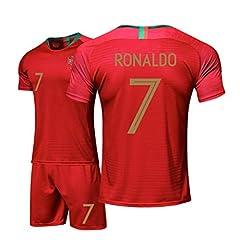 Idea Regalo - Zhengbao Divisa da Calcio Estiva Casa del Portogallo Juventus Maglia Ronaldo Camicia Fan Camicia E Pantaloncini per La Casa Dimensioni dei Bambini E dei Giovani