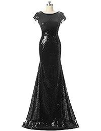 084680b0f5f Damen Pailletten Meerjungfrau lange Hochzeit Kleid Ballkleid brautjungfer  Cocktail Party kleid Abendkleid