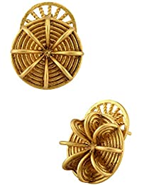 Tribe Amrapali Masaba x Tribe Gold Plated Coastal Wheel studs for Women (MSE-13(G))