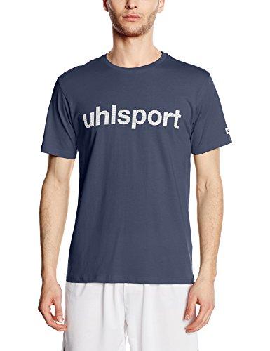 Uhlsport, Maglietta a maniche corte con logo Essential Promo Blu (Marine 14)