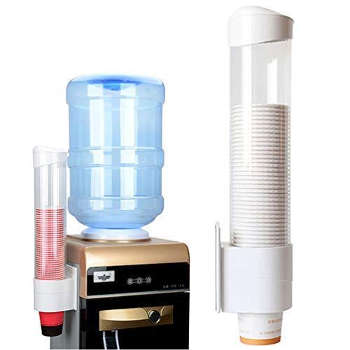 Samhe Cup Spender Pull Typ Papier Wasser Einweg Automatische Entferner Becherhalter Passt Flacher Boden Tassen für Home Büro Krankenhaus Etc. weiß -