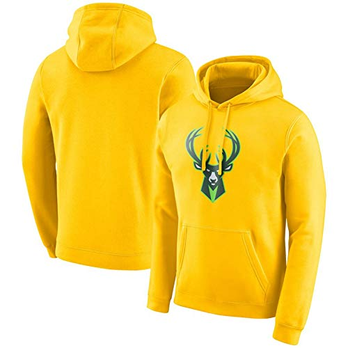 HS-HUWENHUI Basketball League/Milwaukee Bucks Basketball-Team Neuer Pullover Für Kapuzenpullover Mit Praktischem Känguru-Taschen-Fan-Kostüm,S160~165CM (Kostüm Milwaukee)