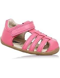BOBUX - Chaussure Step Up Jump rose en cuir, made in New Zealand, idéale pour les premiers pas, bébé Fille