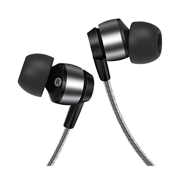 Gritin /Écouteurs Intra-Auriculaires avec Micro pour iPhone Smartphones Android et lecteurs MP3 etc.