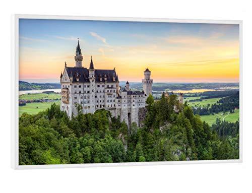 artboxONE Poster mit weißem Rahmen 30x20 cm Natur Schloss Neuschwanstein - Bild Neuschwanstein (Poster Neuschwanstein Schloss)