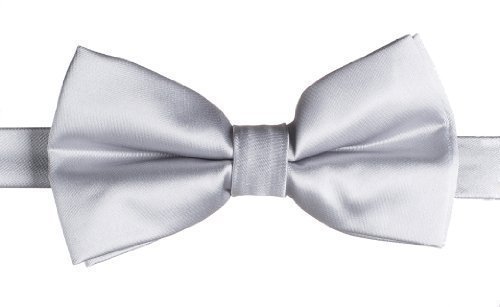 Paisley of London Boys Banded Dickie Bow Tie - Silver (London Bow)