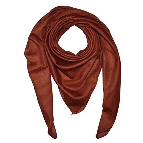 Superfreak Baumwolltuch - Tuch - Schal - 100x100 cm - 100% Baumwolle, Farbe braun