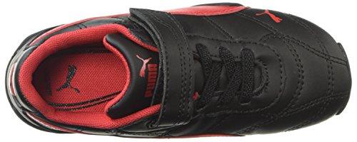 PUMA Baby Tune Cat 3 Velcro Sneaker  Black-Ribbon Red  6 M US Toddler