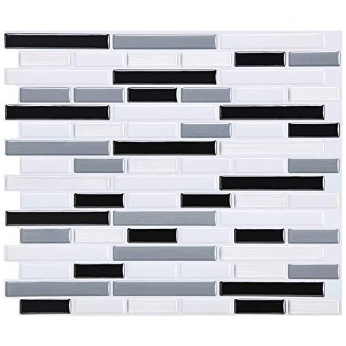 Wokee 23 x 23 cm 3D Ziegel Wandaufkleber Kleber Hauptbadezimmer-Küchen-Ziegelstein 3D Wand-Dekor-Aufkleber-Papierfliese-Wand Backsplash Wandplatte Ziegel Tapete (A)