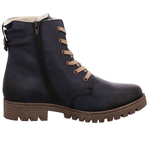 Rieker Damen 78521 Stiefel Blau (Ozean)