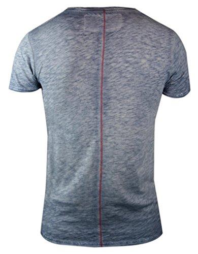 trueprodigy Casual Herren Marken T-Shirt mit Aufdruck, Oberteil cool und stylisch mit Rundhals (kurzarm & Slim Fit), Shirt für Männer bedruckt Farbe: Blau 1062119-4014 Ombre Blue