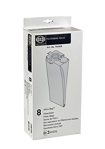 Sebo Staubsauger Beutel (SEBO Filterbox Felix 8 Staubsaugerbeutel für alle Felix Modelle Art. Nr. 7029 ER 7029ER)