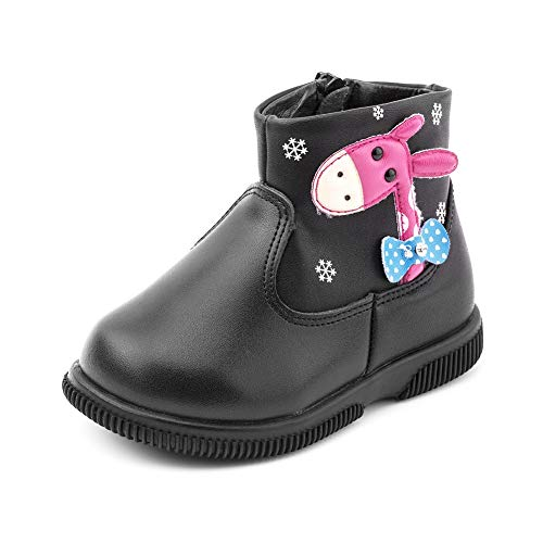 BOBORA Baby Girl Boots, Toddler Girl Kids Cute Giraffe Soft Leather Ankle Boots Shoes for Autumn and Winter