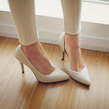 RTRY Donna Comfort Tacchi Di Vera Pelle Primavera Autunno Casual Stiletto Heel Beige Nero 4 In-4 3/4In US6.5-7 / EU37 / UK4.5-5 / CN37