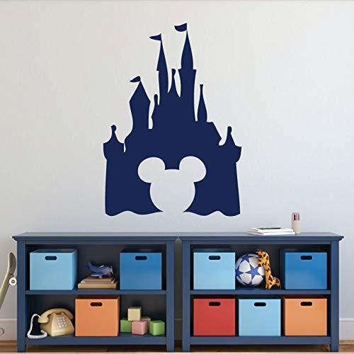 hnitt Wandtattoo Schloss Thema Wandaufkleber Für Kinderzimmer Geburtstag Kindergarten Kunstwand Kinder Home Art Decor 57x80 cm ()