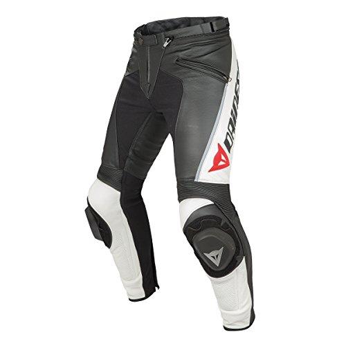 *Dainese Delta Pro C2 Leder Motorradhose, Schwarz/Weiß, Größe 56*