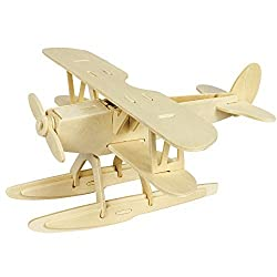 Creative Assemble Puzzle Toys Child Early Education Wooden 3 D Puzzle Airplane Seaplane