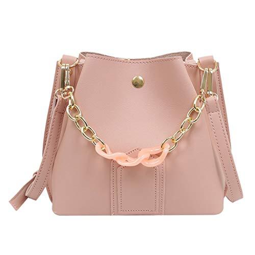 REALIKE Damen Umhängetasche Eimer Tasche Kuriertasche Vintage Frauen Einfarbig Kette Schultertasche Handtasche Einfach klein weiblichen Beutel Henkeltasche Abendhandtasche Handbag