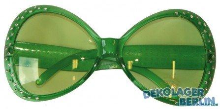 Folat Party Brille Diamant Rahmen grün