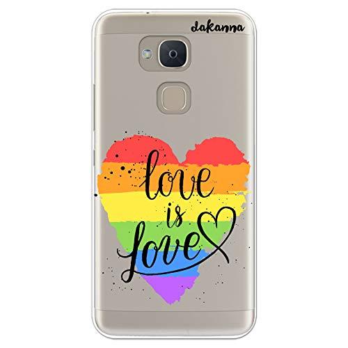 dakanna Case Hülle für BQ V Plus - VS Plus | LGBT-Herzphrase Just Love | Silikonhülle Transparenter Hintergrund