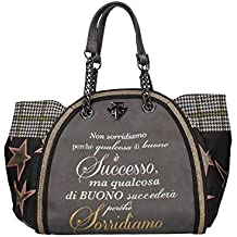 748c258601 LE PANDORINE Classic - Successo donna, borsa a tracolla, grigio