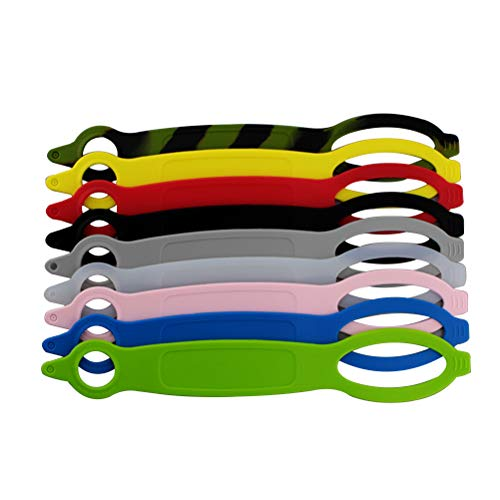 BESPORTBLE 9PCS Water Bottle Carrier Halter Paracord Silikon Straps Bands Flasche Handheld String Grips - Farbe Sortiert