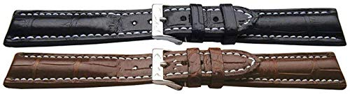 Original Alligator Uhrenarmband von W & CP Handmade Super Padded für Breitling Bentley