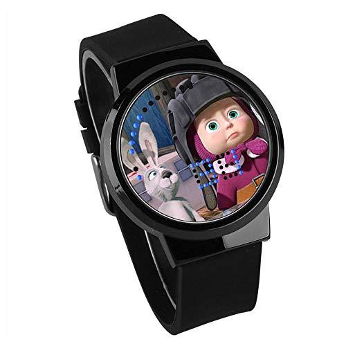 Herrenuhren,Kreative Geschenk Touchscreen Led Uhr Martha Und Bär Anime Umgeben Wasserdicht Leuchtende Elektronische Uhr B -