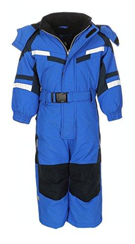 PM Kinder Outdoor Skianzug Snowboard für Jungen Mädchen Funktionsanzug Hardshell Schneeanzug Winter LB1221, blau, Gr. 122 | 07426792426850