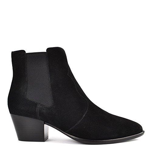 Ash Footwear Chaussures Holly Boots a Talon en Daim Noir Femme