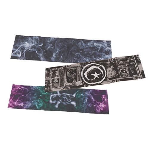 perfeclan 3 Stück Skateboard Schleifpapier Aufkleber mit 3 Muster