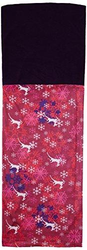 Snood multifonctionnel pour les femmes - foulard, chapeau, cache-cou, capuche avec section polaire Rose - Purple/Pink