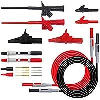 Vosarea Kit de Cables de Prueba electrónicos Cables de multímetro Digital Multímetro de Coche Prueba de extensión Sonda de Prueba Sonda de cocodrilo
