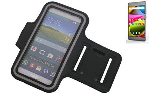 Montare neoprene bracciale Jogging Case / Sport Armband / involucro Sport / Sport / Alta Armband per Archos 55 Cobalt Plus in nero, con riflettore. Universal Fitness fascia da braccio per l'uso esterno del Archos 55 Cobalt Plus. Con l'assunzione di cuffie / auricolari è possibile anche ascoltare la musica durante l'allenamento con i tuoi Archos 55 Cobalt Plus. Nello scomparto chiave pratico portare la chiave di casa in determinate. Braccialetto wristband di alta qualità, vergine